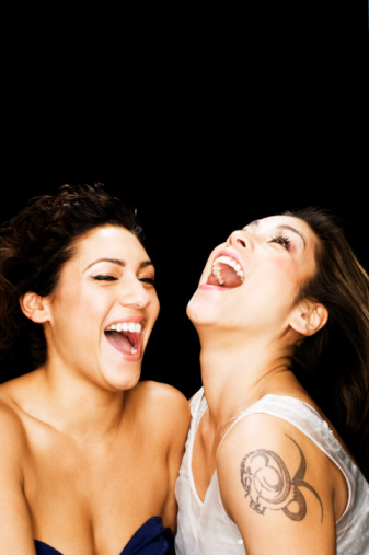 laughing girls